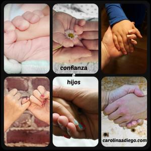 manos, confianza, hijos, relación de confianza con mis hijos